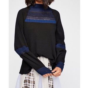 Free people snow day balloon sleeve crochet top